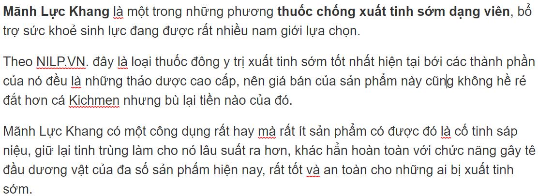 MÃNH LỰC KHANG
