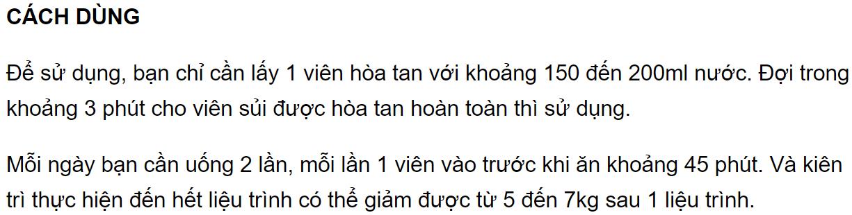 cách dùng Keto Slim
