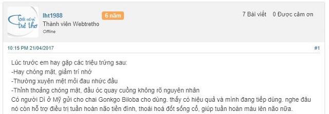 Review đánh giá Ginkgo Biloba 120mg từ người dùng