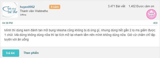 Phan Hoi Ve Kem Tan Mo Missha Webtretho 2