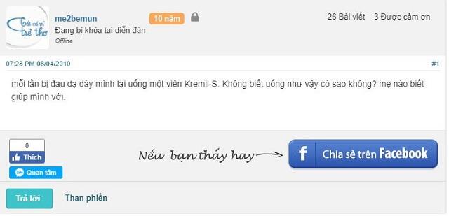 Review của người dùng về Kremil S