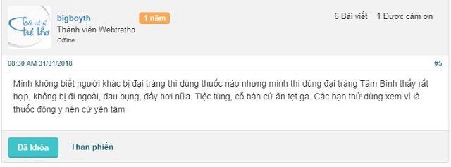 Review Đại Tràng Tâm Bình webtretho