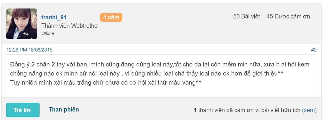 KEM CHỐNG NẮNG ANESSA REVIEW