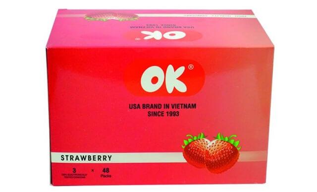 Bao cao su OK hương dâu - strawberry