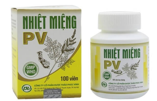 Thuốc nhiệt miệng PV