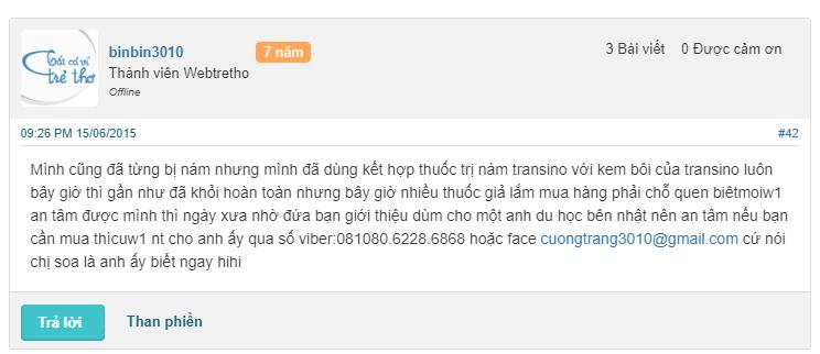 Kem Tri Nam Transino 8