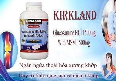 Glucosamine Hcl 1500mg Kirkland Có Tốt Không, Thành Phần, Công Dụng Ra Sao