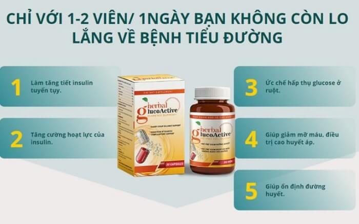 Cách dùng Herbal Glucoactive